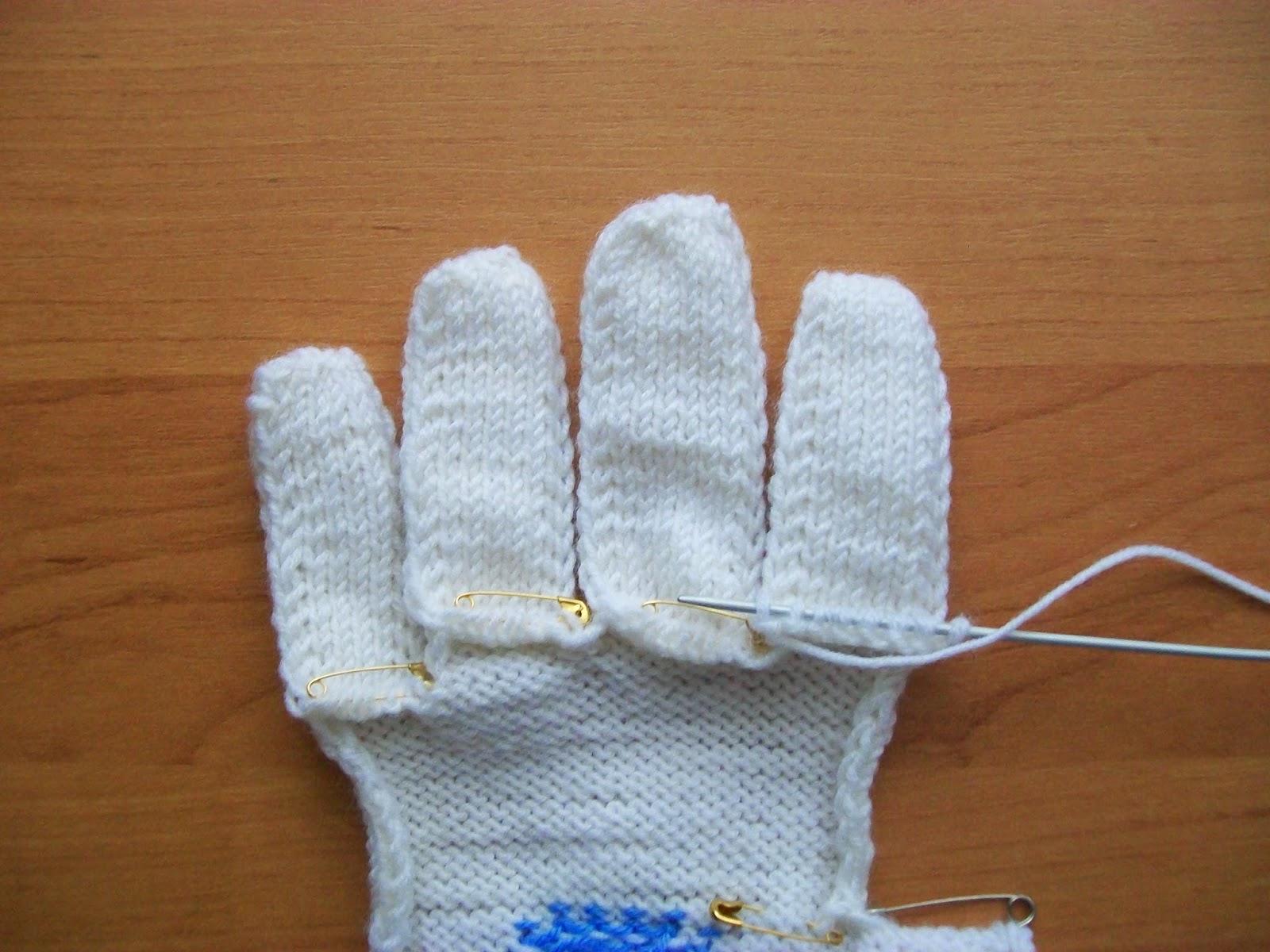 Как вязать рукавицы начиная с пальцев