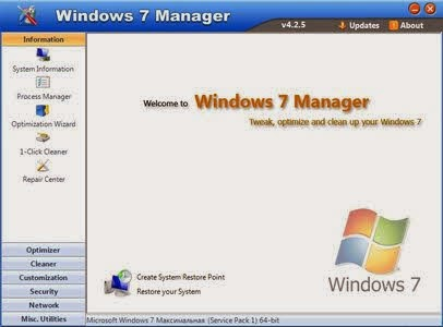 Windows 7 Manager 4.3.8