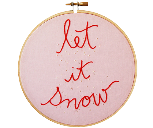 Embroidered Let It Snow from The Merriweather Council