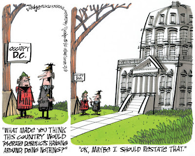 Occupy DC political cartoon