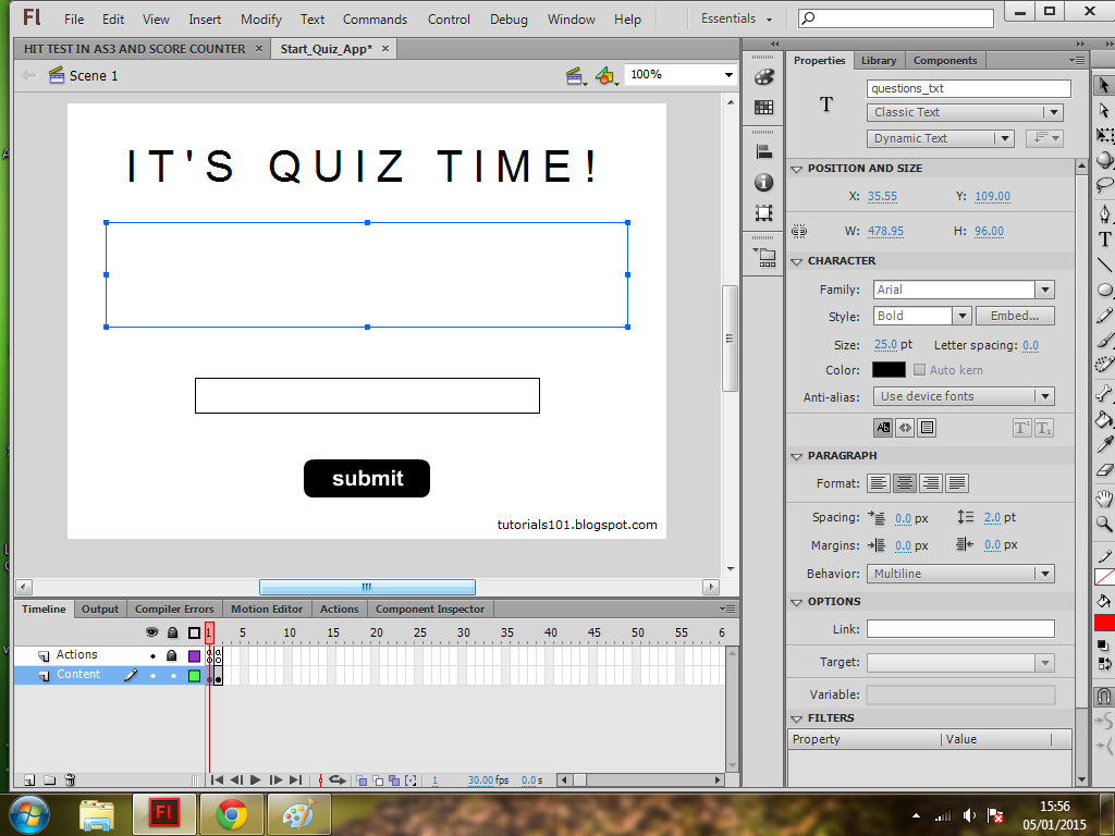 How to Create a Quiz in Flash - ActionScript 3 - Flash College