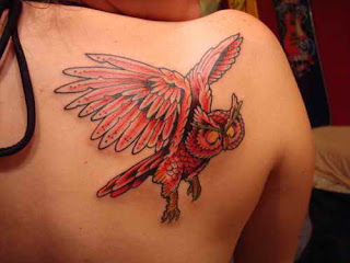 Owl Tattoos on body back