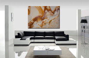 "Abstract Painting ""Caramel"" by Dora Woodrum"