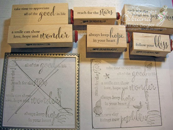 chalkboard card using Memory Box wood mount stamps
