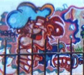 Graffitis Badalona vieja escuela