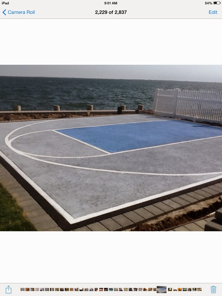 Custom painted Asketball Court
