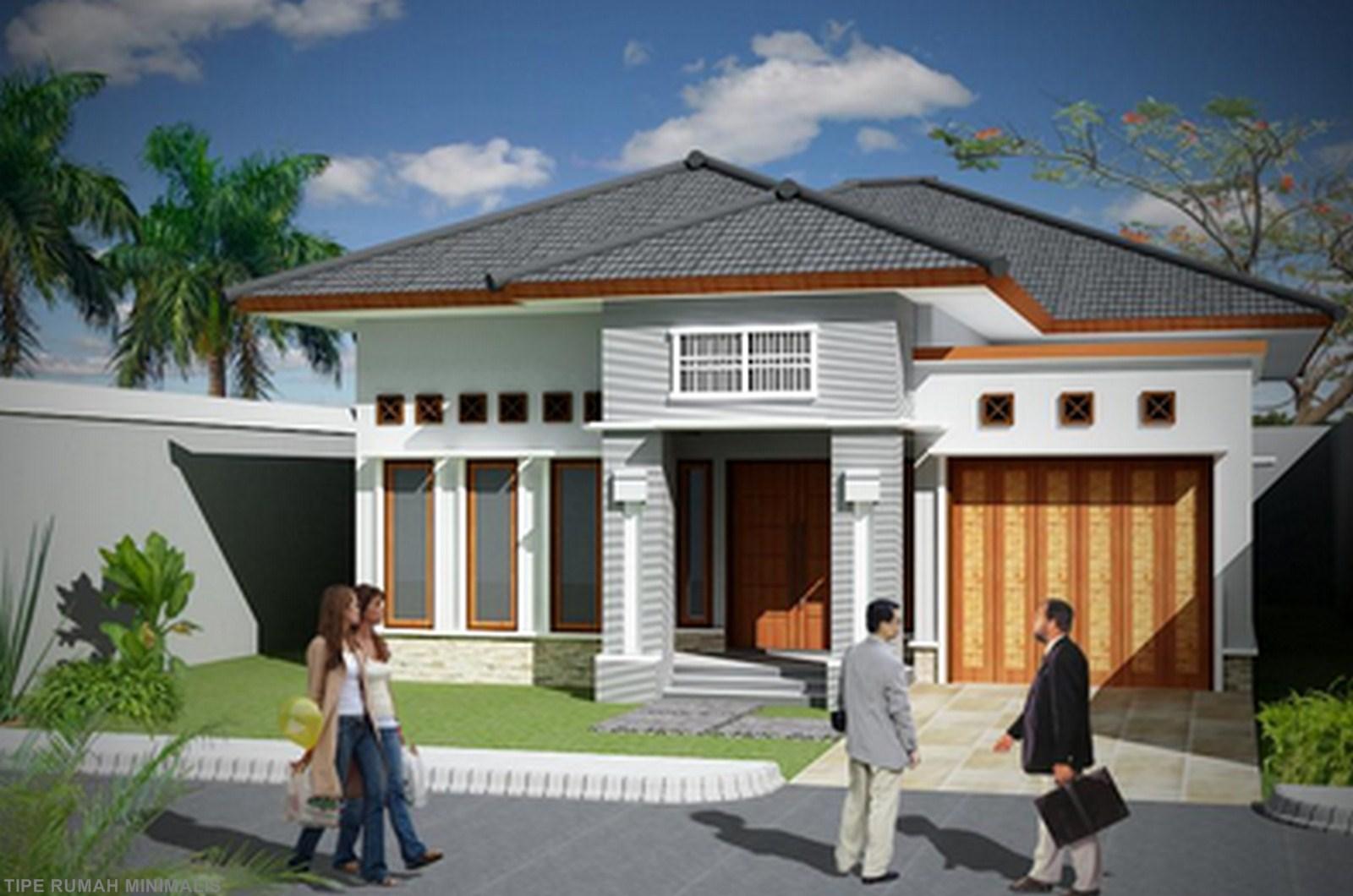 Rumah Minimalis 1 Lantai Dengan Garasi Desain Rumah