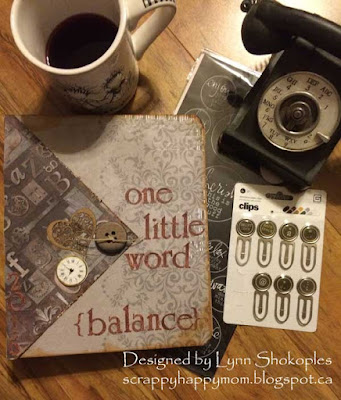 One Little Word Binder Cover by Lynn Shokoples