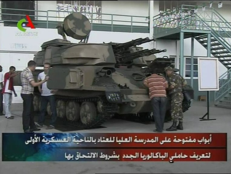 Fuerzas Armadas de Argelia ZSU23-4