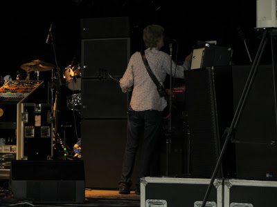 Picture of Phil Lesh tuning up before the Bethel Woods Furhur show