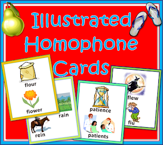 Homophones-Flash-Cards-with-Illustrated-Pairs-and-Triplets