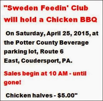 4-25 Sweden Feedin Club Chicken BBQ