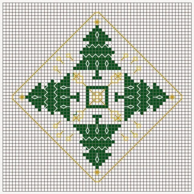 Вышивка крестом схема елки.
