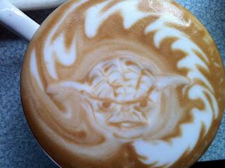 Mestre Yoda Star Wars - Latte Art by Huang JY