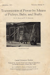 Transmission of Power by Means of Pulleys, Belts, and Shafts (1914)