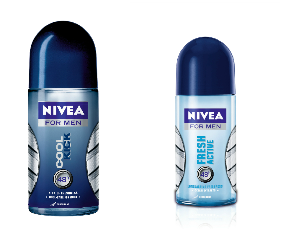Nivea Men Cool Kick and Fresh Active Roll on Deo