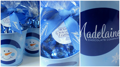Easy Holiday Gifts, Festive Holiday Gifts, Chocolate Gifts, Seasonal Gifts, Delicious Holiday Gits, Snowman Gift Pails, Holiday Gift Tins