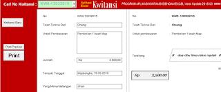 Aplikasi Kwitansi Excel Untuk BOS Fungsi Lengkap