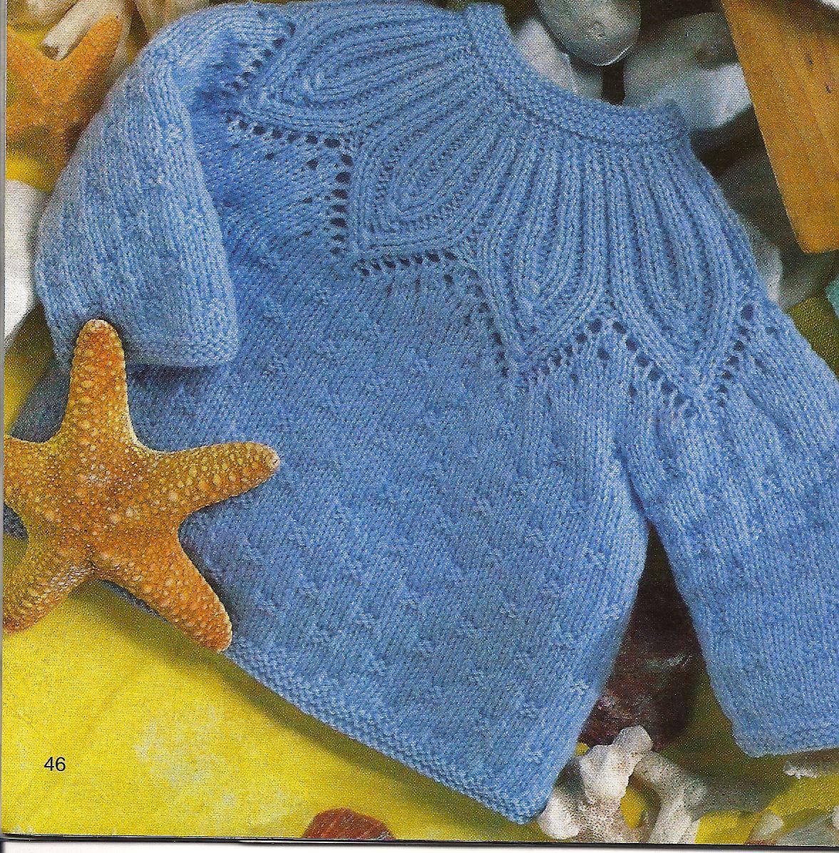 Casaquinho de bebê em tricô - Pala linda