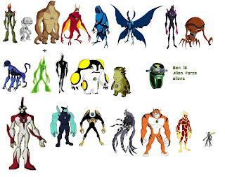 ben10, alien force, aliens