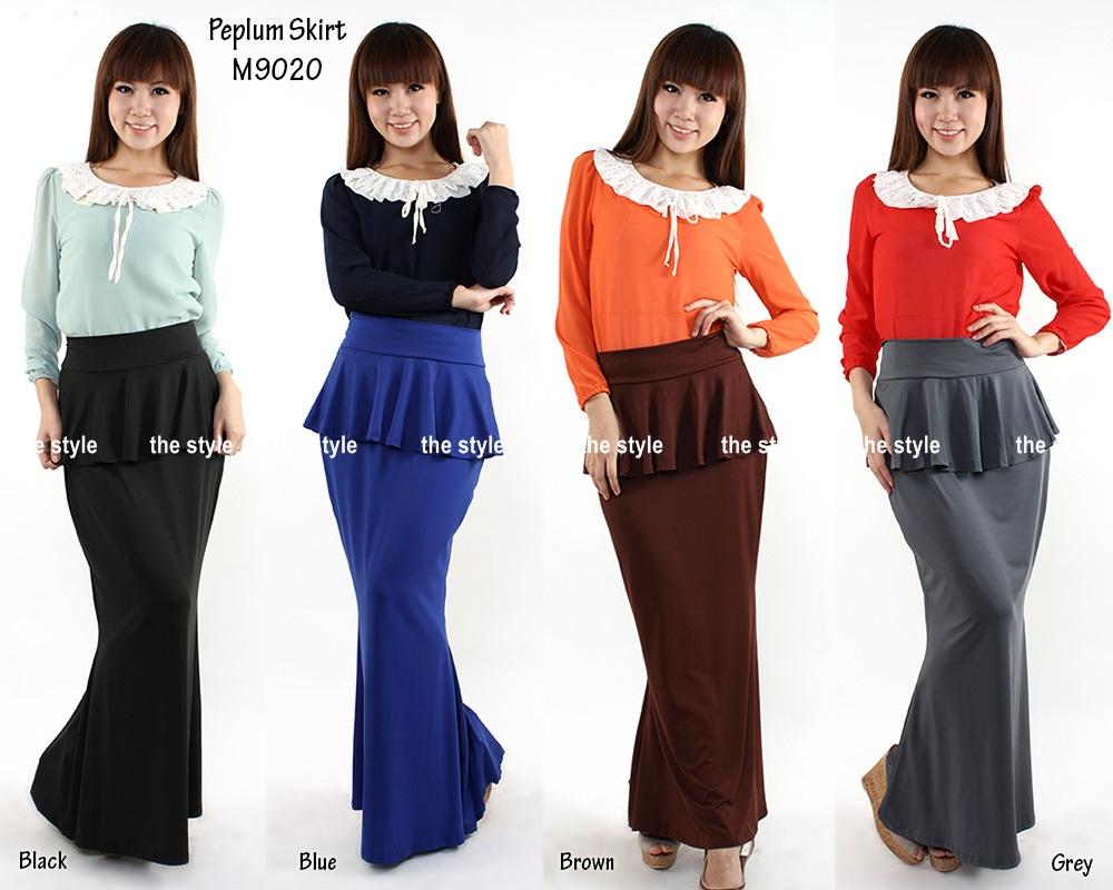 khasiat jamu lifeku new lycra peplum skirt code m9020