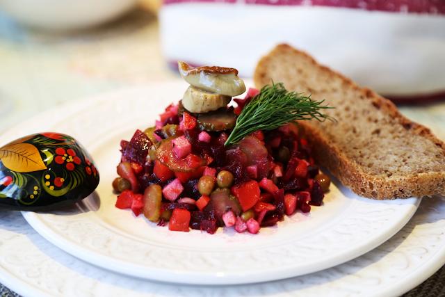 винегрет венигрет печеная свекла салат постный салат постные блюда яблоко