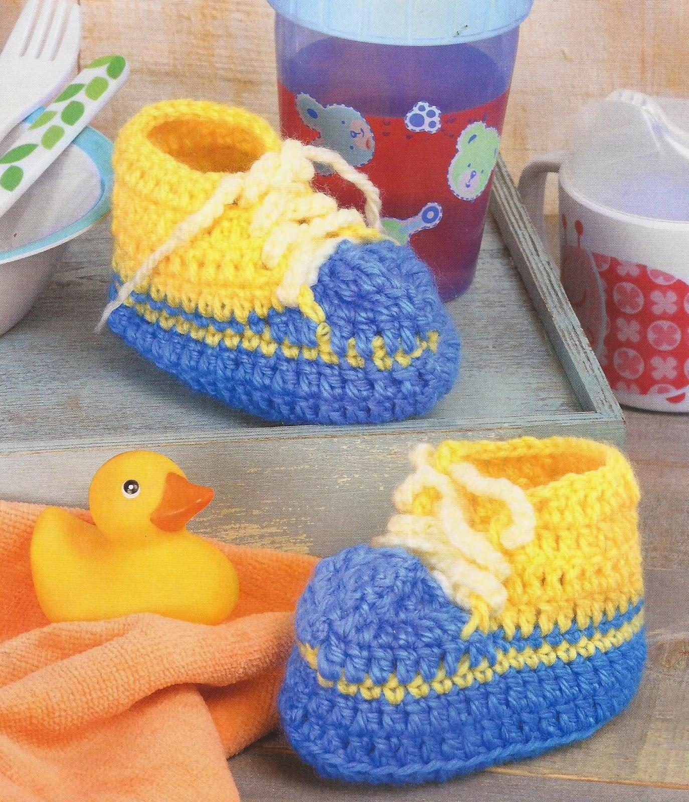 Zapatos a Crochet - Tenis