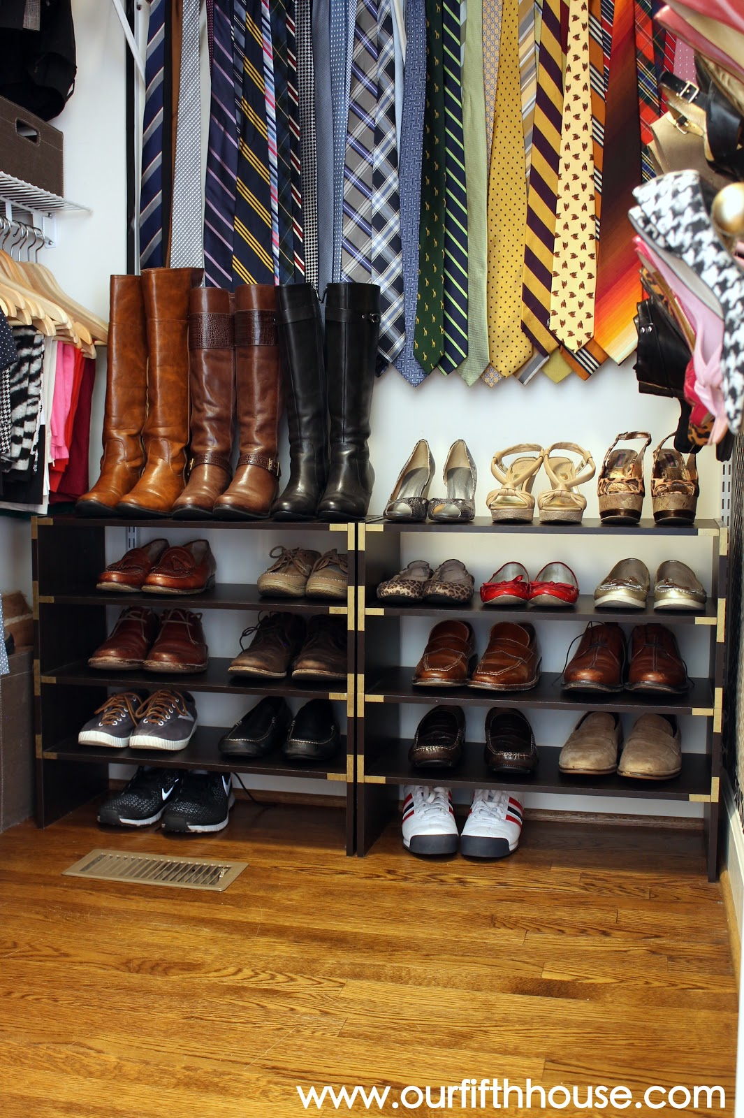 Our Fifth House Master Closet Organization Ideas
