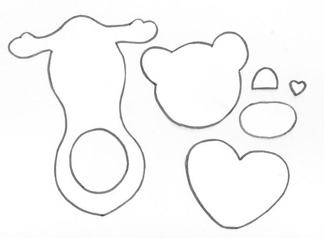 Molde da lembrancinha de Natal - Ursinho Porta-bombom feito de E.V.A