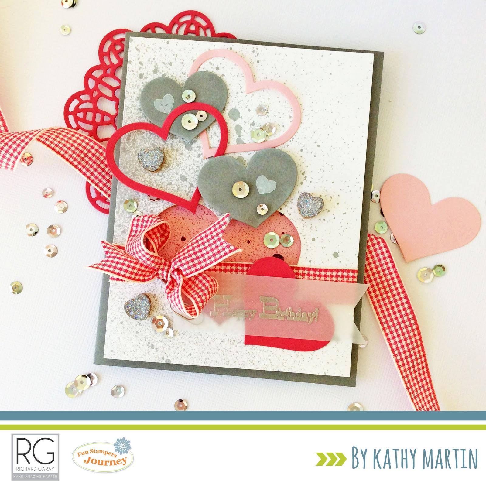 Card Blanc By Kathy Martin Happy Birthday