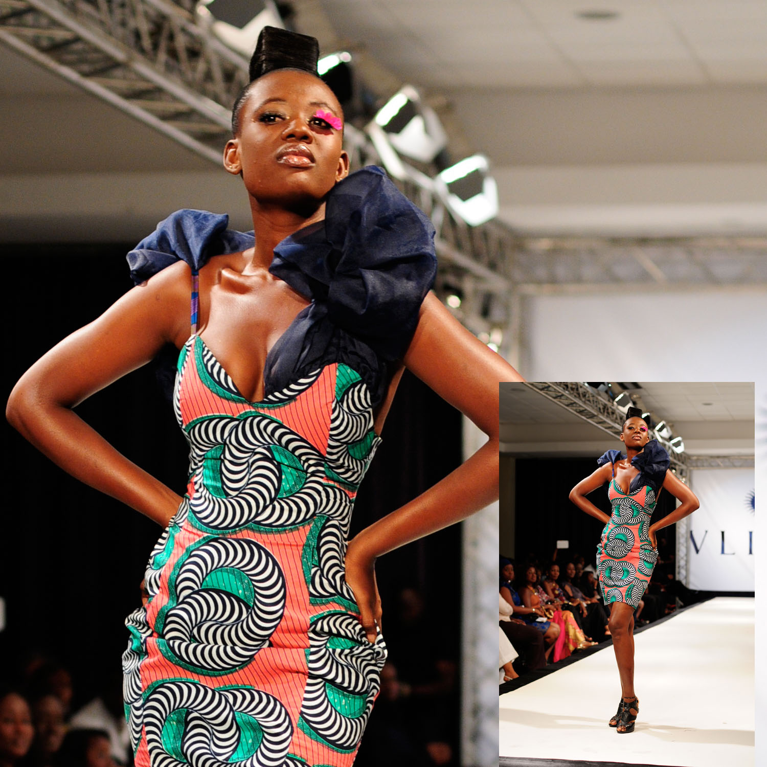Lookbook Mina Evans For Vlisco Dazzling Graphics