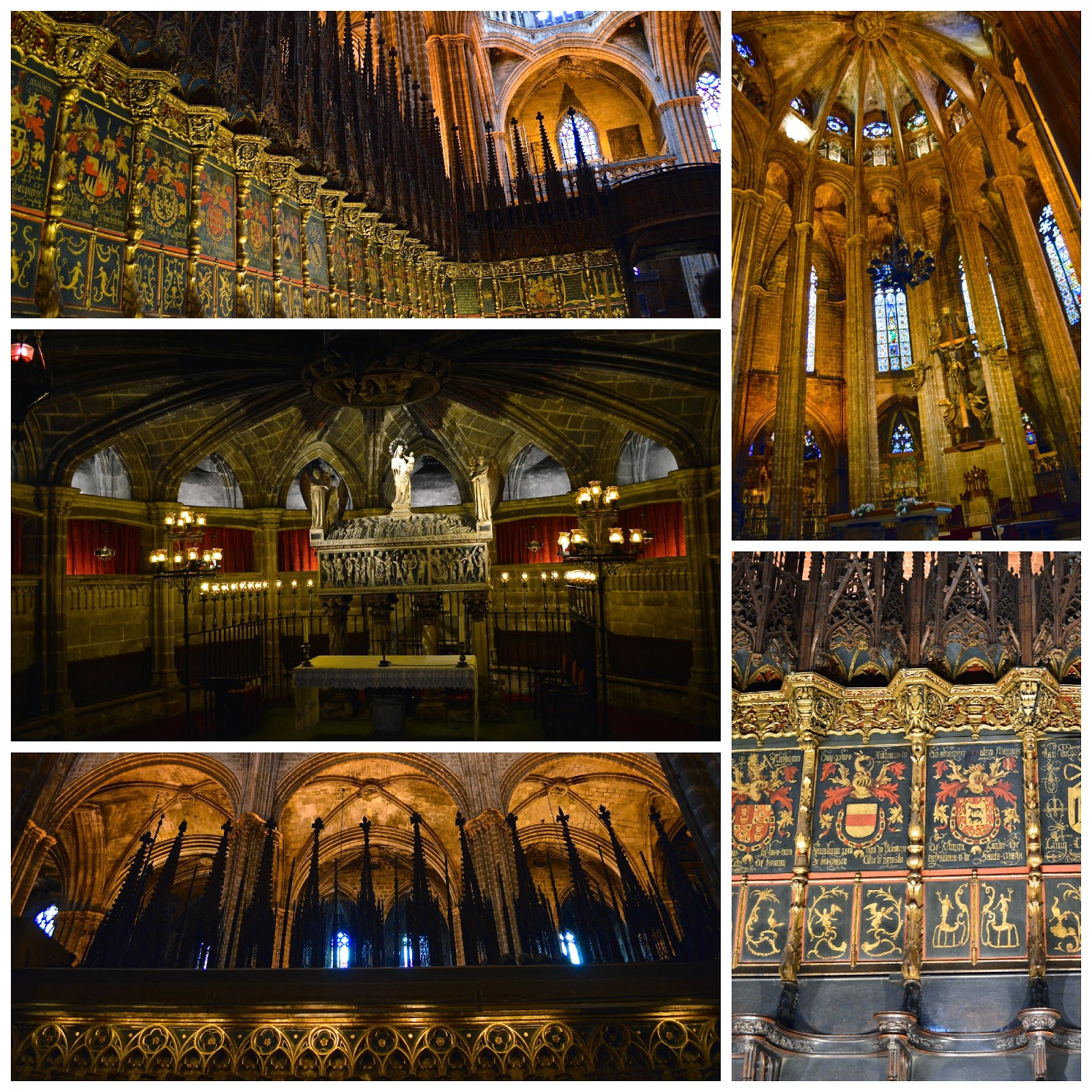 Interiors of Barcelona Cathedral