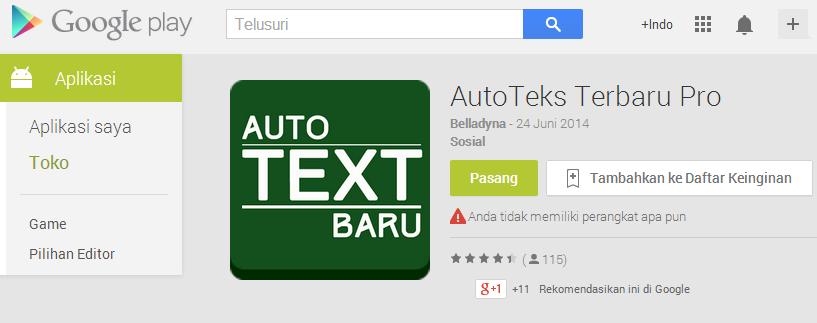 Auto text terbaru pro