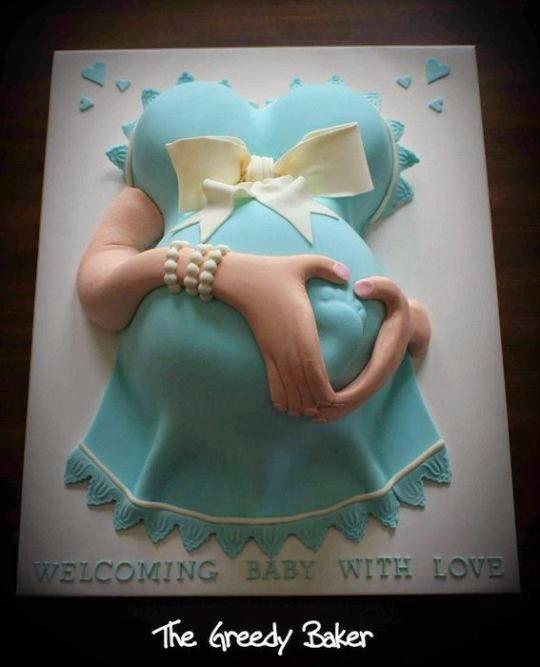 bolo de barriga grávida / pregnant belly cake => Recanto das Mamães Blogueiras [reprodução internet]