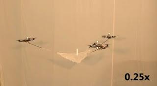 Cuadricópteros capaces de lanzar y atrapar objetos en una red