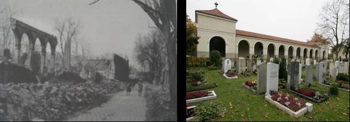 """Der Nordfriedhof ist mit 34.000 Grabplätzen einer der Großfriedhöfe der Stadt München. Er liegt im Stadtteil Schwabing-Freimann. Der Friedhof wurde 1884 von der damaligen Gemeinde Schwabing errichtet. Nicht zu verwechseln ist der Friedhof mit dem Alten Nordfriedhof in München, welcher nur kurze Zeit davor auf dem damaligen Münchner Stadtgebiet entstand. Es gibt auch eine Station der U-Bahn München mit dem Namen Nordfriedhof, weshalb auch das umliegende Gebiet von der Bevölkerung Nordfriedhof genannt wird.  Der Friedhof hat eine Aussegnungshalle, eine Leichenhalle und eine Mauereinfriedung, welche zwischen 1896 und 1899 vom Stadtbaurat Hans Grässel entworfen wurden. 1962 kam noch eine Urnenhalle N vom Architekten Eugen Jacoby hinzu.  Die Aussegnungshalle ist in Thomas Manns Novelle Der Tod in Venedig beschrieben, wenn auch leicht verändert. Der Anblick löst beim Protagonisten Todesahnung aus. Als er in dieser Stimmung einen """"Fremden"""" in Reisekleidung vor dem Portal der Halle sieht, stellt sich bei ihm """"Reiselust"""" ein, """"wahrhaft als Anfall auftretend und ins Leidenschaftliche, ja bis zur Sinnestäuschung gesteigert"""".  Inhaltsverzeichnis      1 Gräber bekannter Persönlichkeiten     2 Literatur     3 Weblinks     4 Einzelnachweise  Gräber bekannter Persönlichkeiten      Peter Paul Althaus, Schwabinger Dichter     Herb Andress, Schauspieler     Annette von Aretin, erste Fernsehansagerin des Bayerischen Rundfunks     August Arnold, Filmproduzent und -regisseur     Karl Arnold, Karikaturist im Simplicissimus     Philip Arp, Schauspieler, Kabarettist, Autor und Theater-Regisseur     Gert Bastian, Brigadegeneral, Symbolfigur der Friedensbewegung     Fritz Benscher, Schauspieler und Quizmaster     Otto Bezold, Politiker     Franziska Bilek, Karikaturistin, Zeichnerin     Louis Braun, Professor und Historienmaler     Beppo Brem, Volksschauspieler     Georg Britting, Schriftsteller     Christine Buchegger, Schauspielerin     Franz von Defregger, Kunstmaler     Eduard Dietl, Gene"""