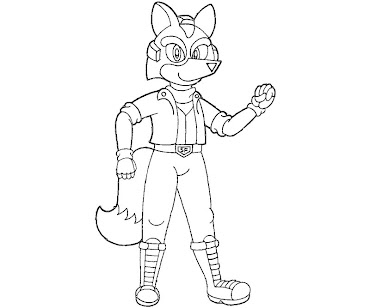 #19 Fox McCloud Coloring Page