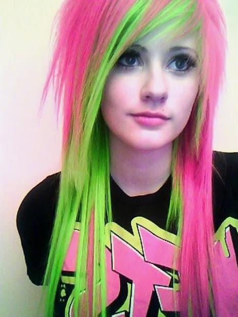 colourful creative hair color