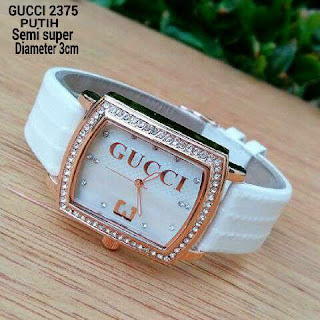 Gucci Three Leather Putih