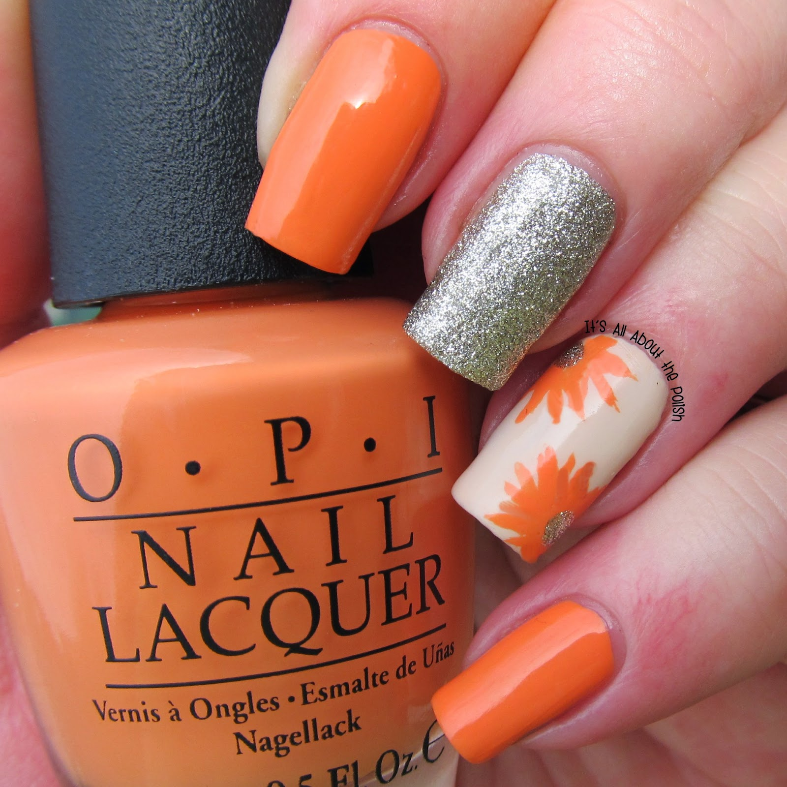 It\'s all about the polish: OPI - Where did Suzi\'s Mango floral design