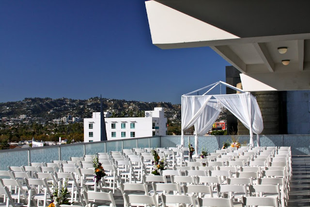 rooftop wedding in LA