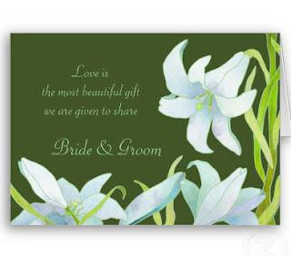 Calla lilies invitations