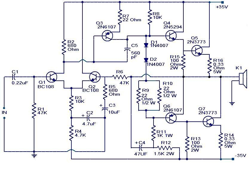 similiar amplifier connection diagram keywords 100w subwoofer amplifier circuit audio wiring diagram