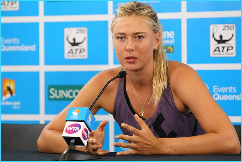Maria Sharapova – press conference at Brisbane International
