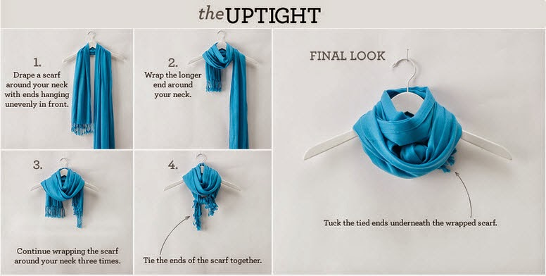 How to tie a scarf - the Uptight way