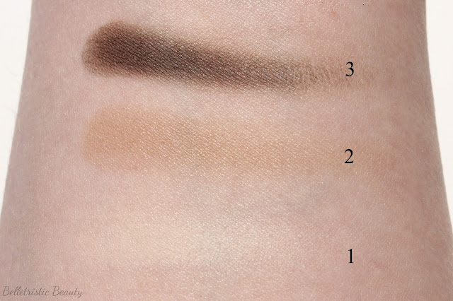Marc Jacobs The Lolita 206 Style Eye-Con No.7 Swatches, Shades 1-3 in outdoor lighting