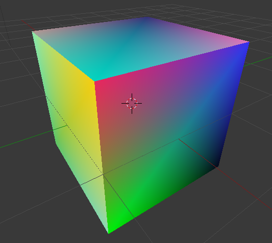 blender python  vertex color map