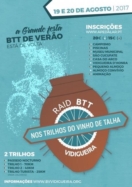 RAID BTT TRILHOS DE BACO - VIDIGUEIRA