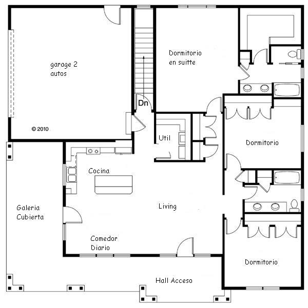 Planos proyecto direcci n y construcci n de obras casa quinta for Planos de construccion