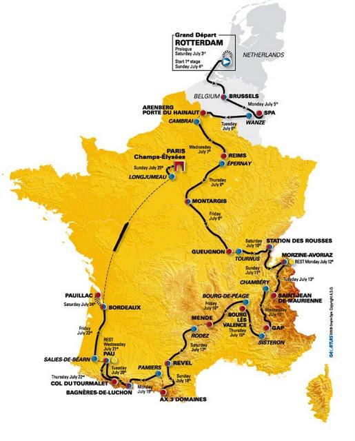 tour de france route 2011. tour de france 2011 route